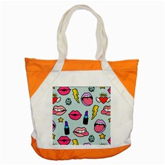 Lipstick Lips Heart Valentine Star Lightning Beauty Sexy Accent Tote Bag