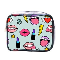 Lipstick Lips Heart Valentine Star Lightning Beauty Sexy Mini Toiletries Bags