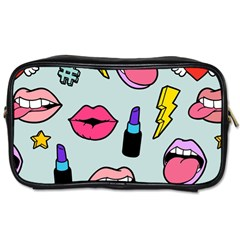 Lipstick Lips Heart Valentine Star Lightning Beauty Sexy Toiletries Bags 2 Side
