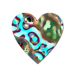Multiscale Turing Pattern Recursive Coupled Stone Rainbow Heart Magnet