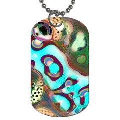 Multiscale Turing Pattern Recursive Coupled Stone Rainbow Dog Tag (two Sides)