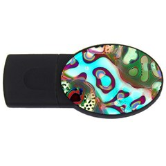 Multiscale Turing Pattern Recursive Coupled Stone Rainbow Usb Flash Drive Oval (4 Gb)