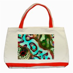 Multiscale Turing Pattern Recursive Coupled Stone Rainbow Classic Tote Bag (red)