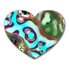 Multiscale Turing Pattern Recursive Coupled Stone Rainbow Heart Mousepads