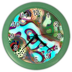 Multiscale Turing Pattern Recursive Coupled Stone Rainbow Color Wall Clocks