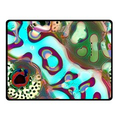 Multiscale Turing Pattern Recursive Coupled Stone Rainbow Double Sided Fleece Blanket (small)