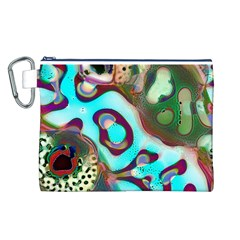 Multiscale Turing Pattern Recursive Coupled Stone Rainbow Canvas Cosmetic Bag (l)