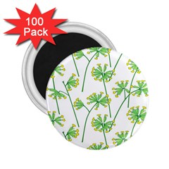 Marimekko Fabric Flower Floral Leaf 2 25  Magnets (100 Pack)