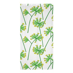 Marimekko Fabric Flower Floral Leaf Shower Curtain 36  X 72  (stall)