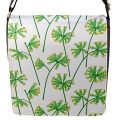 Marimekko Fabric Flower Floral Leaf Flap Messenger Bag (s)