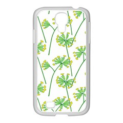 Marimekko Fabric Flower Floral Leaf Samsung Galaxy S4 I9500/ I9505 Case (white)