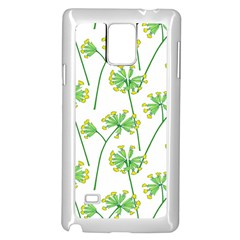 Marimekko Fabric Flower Floral Leaf Samsung Galaxy Note 4 Case (white)