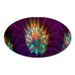 Live Green Brain Goniastrea Underwater Corals Consist Small Oval Magnet Front