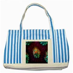 Live Green Brain Goniastrea Underwater Corals Consist Small Striped Blue Tote Bag