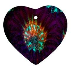 Live Green Brain Goniastrea Underwater Corals Consist Small Heart Ornament (two Sides)