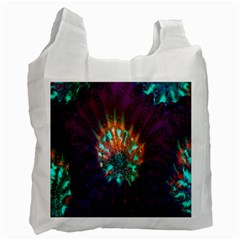 Live Green Brain Goniastrea Underwater Corals Consist Small Recycle Bag (two Side)