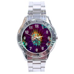 Live Green Brain Goniastrea Underwater Corals Consist Small Stainless Steel Analogue Watch