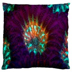 Live Green Brain Goniastrea Underwater Corals Consist Small Large Cushion Case (one Side)