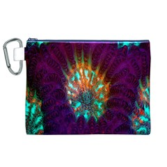 Live Green Brain Goniastrea Underwater Corals Consist Small Canvas Cosmetic Bag (xl)