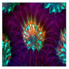 Live Green Brain Goniastrea Underwater Corals Consist Small Large Satin Scarf (square)