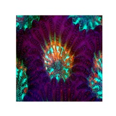 Live Green Brain Goniastrea Underwater Corals Consist Small Small Satin Scarf (square)