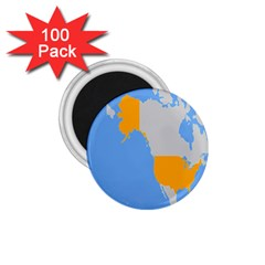 Map Transform World 1 75  Magnets (100 Pack)