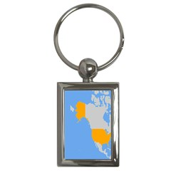 Map Transform World Key Chains (rectangle)