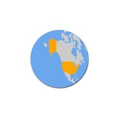 Map Transform World Golf Ball Marker (10 Pack)