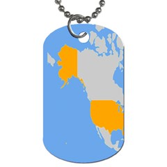 Map Transform World Dog Tag (two Sides)