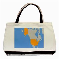 Map Transform World Basic Tote Bag