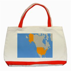 Map Transform World Classic Tote Bag (red)