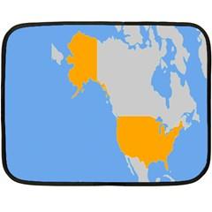 Map Transform World Double Sided Fleece Blanket (mini)