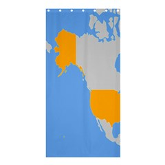 Map Transform World Shower Curtain 36  X 72  (stall)