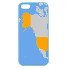 Map Transform World Apple Seamless Iphone 5 Case (color)
