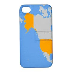Map Transform World Apple Iphone 4/4s Hardshell Case With Stand