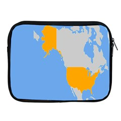Map Transform World Apple Ipad 2/3/4 Zipper Cases