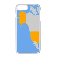 Map Transform World Apple Iphone 7 Plus White Seamless Case