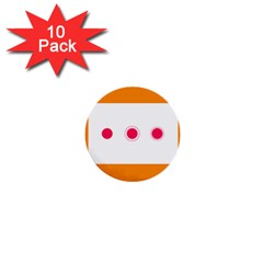 Patterns Types Drag Swipe Fling Activities Gestures 1  Mini Buttons (10 Pack)