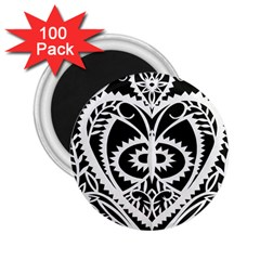 Paper Cut Butterflies Black White 2 25  Magnets (100 Pack)