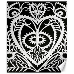 Paper Cut Butterflies Black White Canvas 8  X 10