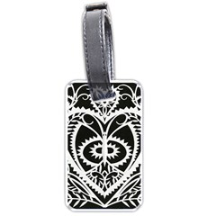 Paper Cut Butterflies Black White Luggage Tags (one Side)