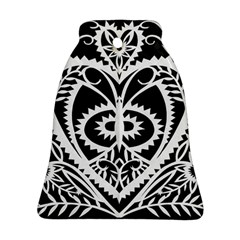 Paper Cut Butterflies Black White Bell Ornament (two Sides)
