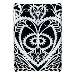 Paper Cut Butterflies Black White Apple Ipad Mini Hardshell Case