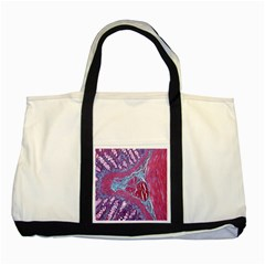 Natural Stone Red Blue Space Explore Medical Illustration Alternative Two Tone Tote Bag