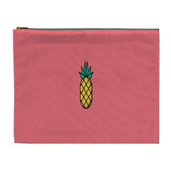 Pineapple Fruite Minimal Wallpaper Cosmetic Bag (xl)