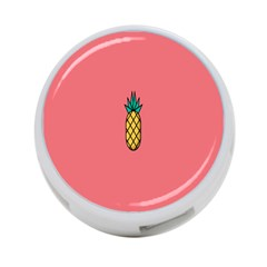 Pineapple Fruite Minimal Wallpaper 4 Port Usb Hub (one Side)