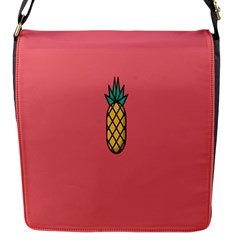 Pineapple Fruite Minimal Wallpaper Flap Messenger Bag (s)