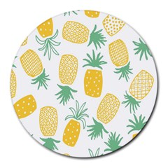 Pineapple Fruite Seamless Pattern Round Mousepads