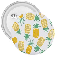 Pineapple Fruite Seamless Pattern 3  Buttons