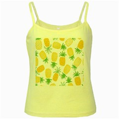 Pineapple Fruite Seamless Pattern Yellow Spaghetti Tank